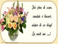 Personalizare felicitari de zi de nastere | Zile pline de soare, sanatate si bucurii, alaturi de cei dragi! ...