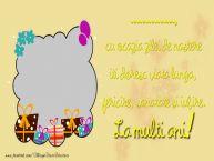 Personalizare felicitari de zi de nastere | ... cu ocazia zilei de nastere iti doresc viata lunga, fericire, sanatate si iubire. La multi ani!