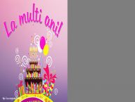 Personalizare felicitari de zi de nastere | La multi ani! - Rama foto de Zi de Nastere