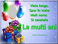 Personalizare felicitari de zi de nastere   Viata lunga, spor în toate, mult noroc si sanatate ...