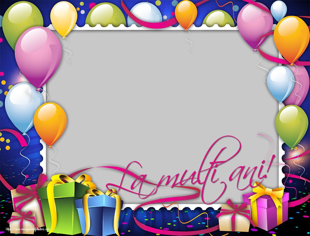 Personalizare felicitari de zi de nastere | La multi ani!