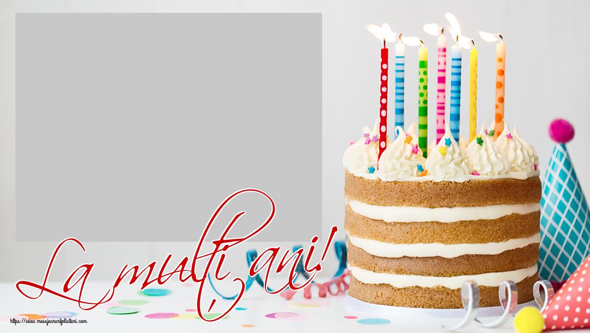 Personalizare felicitari de zi de nastere | La mulți ani! - Rama foto de Zi de Nastere