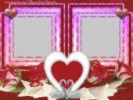Personalizare felicitari de Valentines Day | Rama foto dubla