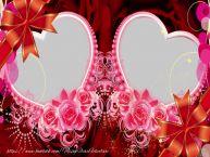 Personalizare felicitari de Valentines Day | Rama foto cu inimi