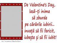 Personalizare felicitari de Valentines Day | Mesajul tau de Valentine's Day pentru prieteni