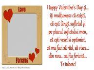 Personalizare felicitari de Valentines Day | Mesajul tau de Valentine's Day pentru iubit/sot/prieten