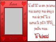 Personalizare felicitari de Valentines Day | Declaratie de DRAGOSTE pentru persoana iubita