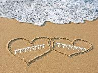 Personalizare felicitari de Valentines Day | Nume pe nisip