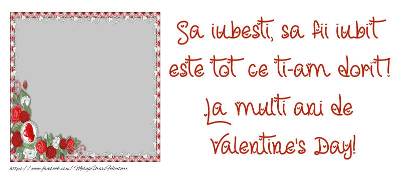 Personalizare felicitari de Valentines Day   Mesajul tau de Ziua Indragostitilor pentru prieteni