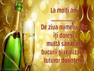 Personalizare felicitari de Ziua Numelui | La mulți ani, ...! De ziua numelui tău iți doresc multă sănătate, bucurii și realizarea tuturor dorințelor.